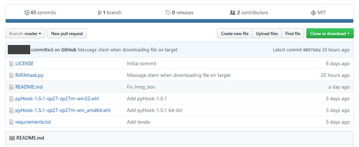 RAT вирус написанный на Python использует протокол Telegram