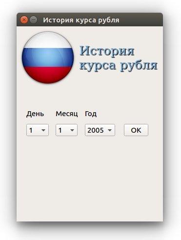 История курса рубля на PyQt5 + XML от ЦБ РФ