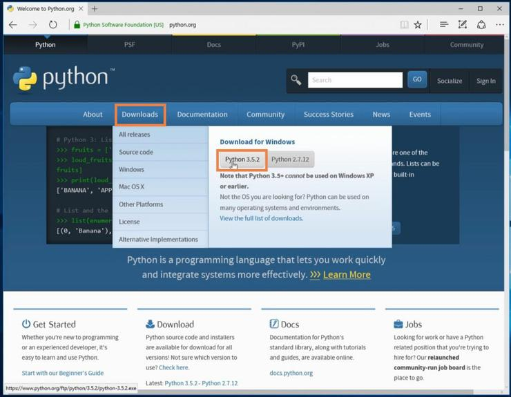 Установка Python и pip на Windows