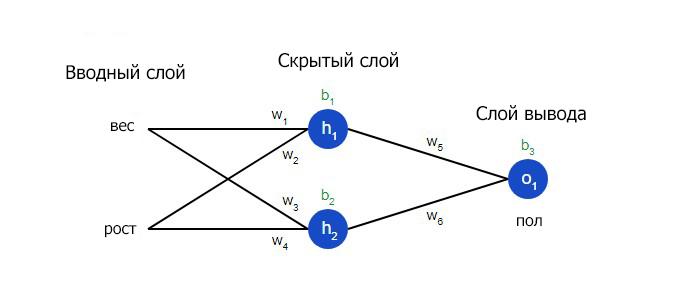 Тренировка нейронной сети схема