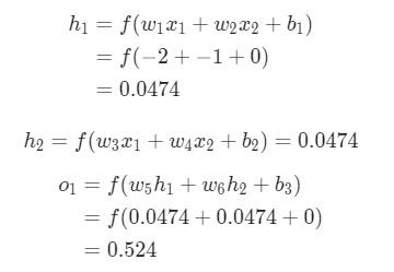 Пример подсчета частных производных