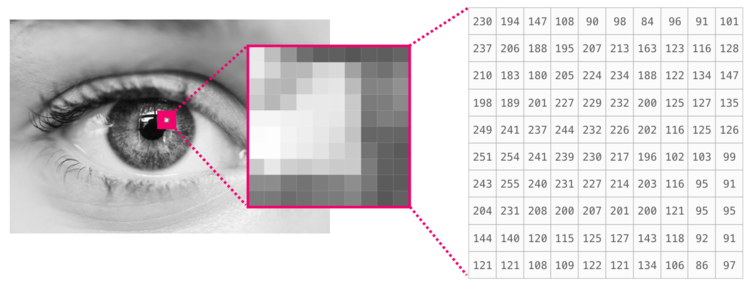 Черно-белое изображение NumPy