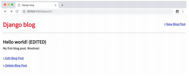 delete form