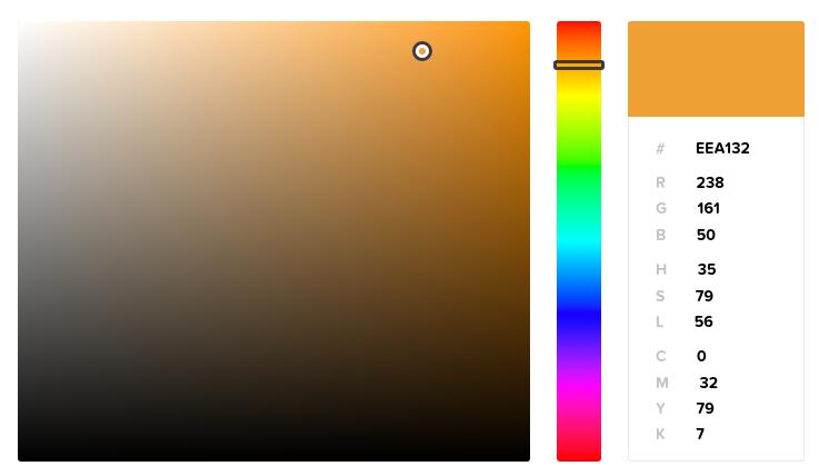 Выбор HEX для цвета